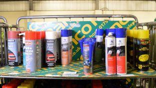 Simoniz Spray paint, Normfest term clean, Carplan carb & air intake cleaner, Liqui Moly in