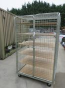 Mobile Wire Caged Trolley L 1180mm x W 800mm x H 1900mm