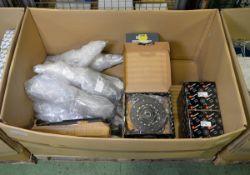 Vehicle parts - clutch kits, front shock absorbers, alternators, brake caliper - see pictu