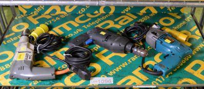Wolf 2310W Portable Electric Drill 110v, ELU Portable Electric Drill 240v, Makita HP2010N