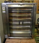 MCM Rotisserie 6 horizontal burner cooking station - door not attached