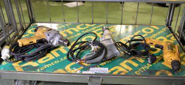 DeWalt D21520 Portable Electric Hammer Drill 110v, Wolf 2310W Portable Electric Drill 110v