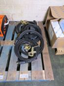 5x 6M earth welding cables with heavy duty clamps