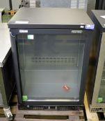 Gamko glass front fridge - no shelves - W 600mm x D 510mm x H 850mm
