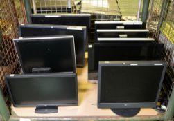 9x Computer Monitors - various makes & types