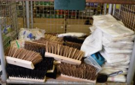 Mop heads, brush heads, dispoable coverall with hoods