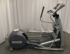 Precor EFX 576i Elliptical Cross Trainer - Left arm section loose, please see pictures for