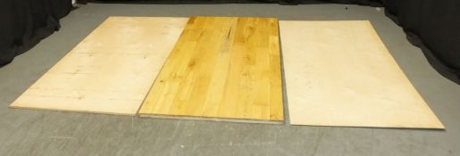 Wooden Gym Flooring - varying thicknesses (as seen in pictures) - L2000 x D1300mm