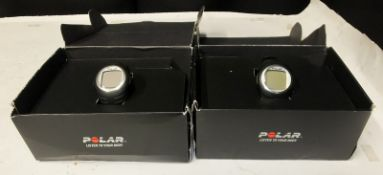 2x Polar F4 Fitness Heart Rate Monitors with Polar Heart Rate Chest Sensors