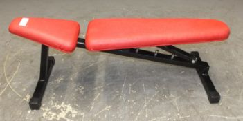 Adjustable Weight Bench - Red