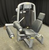 Technogym Leg Curl Machine (damage to plastic panel around weight pulley system - as seen