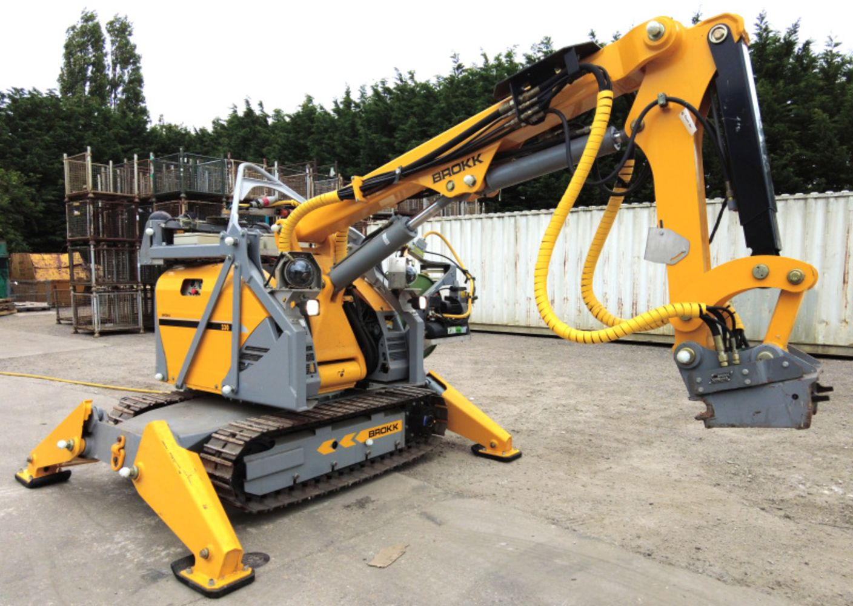 Online Auction of Brokk 330 Robotic Demolition Machine with attachments & accessories