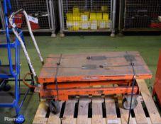 Bishamnon BX30S mobile lift table - Max cap 300kg / 660lbs - serial 98092199