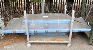 2x Stainless Steel Sinks Units - L2400 x W700mm