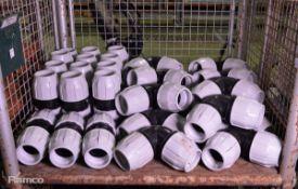 32x PVC MDPE 90mm diameter Elbow Couplings