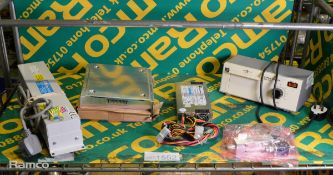 RS Eprom Eraser 454-254, Microlab DN-14FN Tapper, Olson Data Protector & assorted PC Power