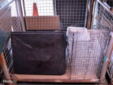 Various Catering Equipment - Baking Trays, Frying Baskets, pan lids