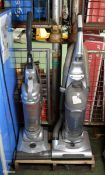 2x Upright vacuum cleaners