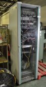 Network Cabinet with Ethernet Switches and cables - L590 x D675 x H2045mm