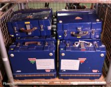 10x Blue Tool Boxes - Empty