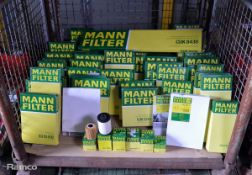 Mann Air & Fuel filters - see pictures for model / type