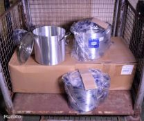 7x 28cm Stainless Steel Stock Pots