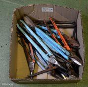 Various Tin Snip Hand Tools