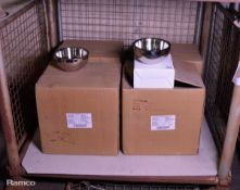 42x Stainless Steel Dual Angle Bowls 20cm