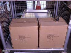 12x Metal Baking Trays, 96x Stainless Steel Coffee Pots 12oz