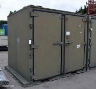 Delfasco Storage Container - Green - L2490 x D2140 x H2300mm (damage to door)