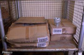 600x Transworld Galvanised Metal Buckets 0.5L