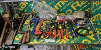 Hand Tools - Riveters, Wood Plane, pipe wrench, scissors, mallet, wrenches