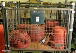 9x Flat Lay Fire Hose Minus Coupling 110mm diameter, 4x Flat Lay Fire Hose Minus Coupling