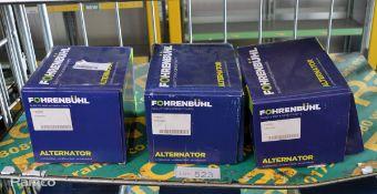 3x Fohrenbuhl alternators - FA5033, FA6271, FA5087