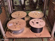 4x Reels 2-Core Telephone Cable approx. 1000 MTR per reel
