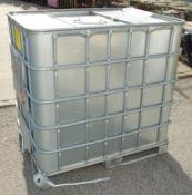 1000LTR IBC Storage tank in frame - W 1200mm x D 1000mm x H 1170mm - damaged frame base