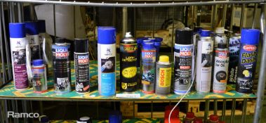 Various Vehicle Sprays/Cleaners - Liqui Moly, Noamfest, Carplan, Bosch, Add it - Please se