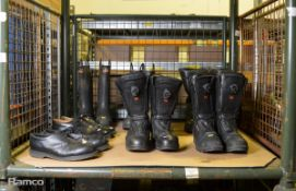3x Pairs of Leather Boots, 2x Pairs of Safety Wellington Boot, 2x Pairs safety shoes