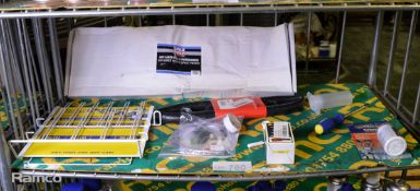 Euro Car Parts Hose Clips Rack, Patfluid Accessory, Q-Bond Repair Kit, Liqui Moly DPF Lanc