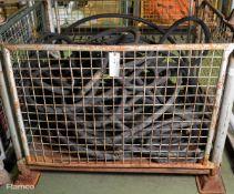 5x Various Lengths Black High Pressure Water Pipe