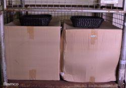 48x Transworld Black Weaved Baskets