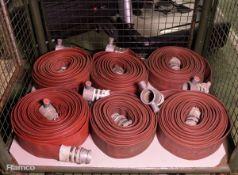 6x Layflat hose - Male & Female Connectors