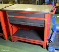 Facon Mobile Tool Cabinet 3 Drawers - L 1200mm x W 600mm x H 950mm