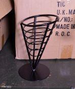 96x Metal Food Baskets
