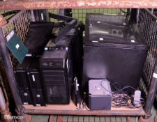 PC towers - Dell, Advent, IT glass fronted cabinet
