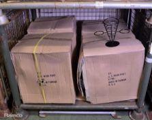 96x Black Metal Food Baskets