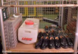 Portaflex Portable Shower, Logic 60 Ltr Water Tank, 8x Pairs Various Sizes of Dress Shoes