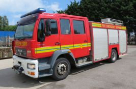 Man Angloco Fire Engine - LE15.220 - 52788 miles - winch - Unit been used 713hr - 6871CC