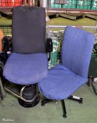 2x Operator Swivel Chairs
