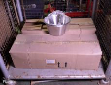 72x Stainless Steel Taper Mixing Bowls 33.2cm
